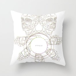All Things Go. 3-D Throw Pillow