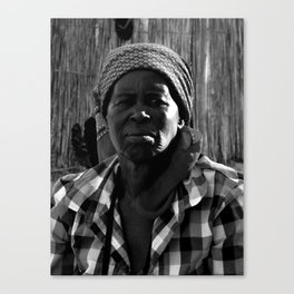 Zulu Woman at Home Canvas Print