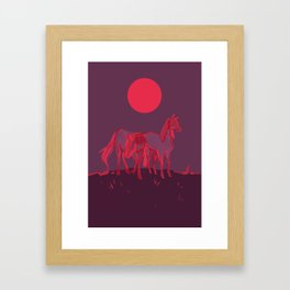 Supermoon Horses Framed Art Print