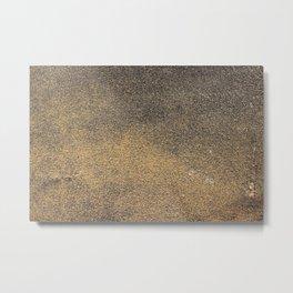 Black Yellow Sandpaper Texture Metal Print