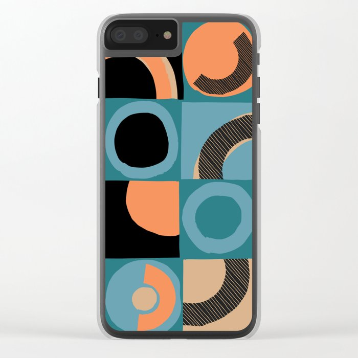 pattern 044 Clear iPhone Case