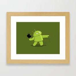 Bugdroid launcher Framed Art Print