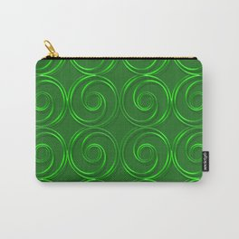 Abstract circles green illustration. Carry-All Pouch