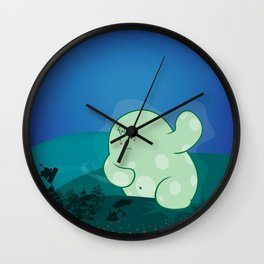 Revenge of the forest guardian Wall Clock