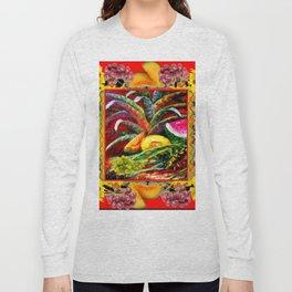 RED HARVEST STILL LIFE  FRUIT ART Long Sleeve T-shirt