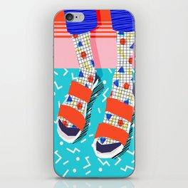 No Doi - memphis throwback retro classic style fashion 1980s 80s hipster shoes socks urban trendy iPhone Skin