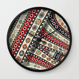 Abstract tribal background Wall Clock