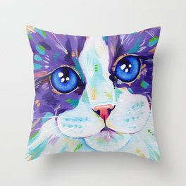 Cats in colour 4 Throw Pillow