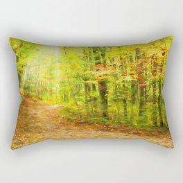 Autumns Light Rectangular Pillow