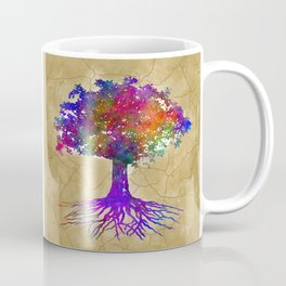 Tree Of Life Batik Print Coffee Mug