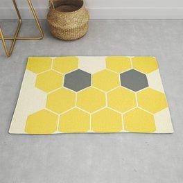 Yellow Honeycomb Rug
