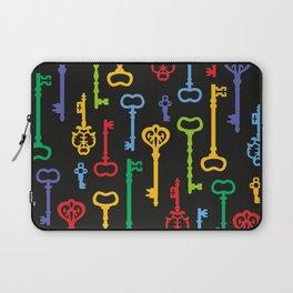 Rainbow Vintage Keys Pattern Laptop Sleeve
