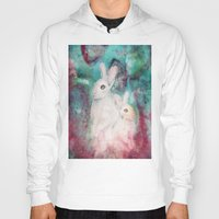 rabbits Hoodies featuring rabbits by Curtis Reynolds