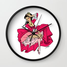 Lady Buffy Pin up Wall Clock