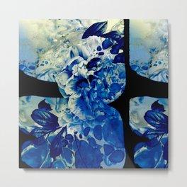 hidden blue peony Metal Print