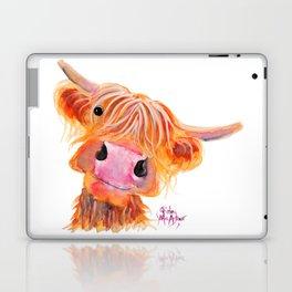 Highland Cow Print, Animal Print ' NESSIE ' by Shirley MacArthur Laptop & iPad Skin