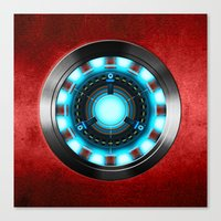 iron man Canvas Prints featuring Iron Man Iron Man by ThreeBoys