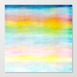 Rainbow Gradient - tie dye loved by unicorns Canvas Print