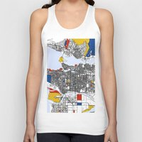 vancouver Tank Tops featuring Vancouver by Mondrian Maps