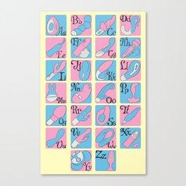 Vibrator Alphabet Canvas Print