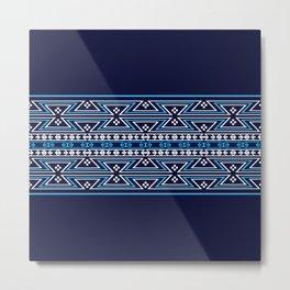 Native American Traditional Ethnic Tribal Geometric Navajo Motif Pattern Metal Print