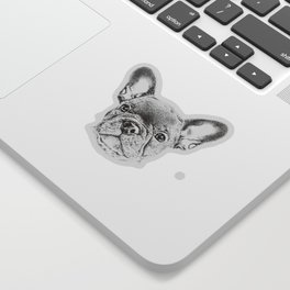 Drawing of french bulldog Sticker