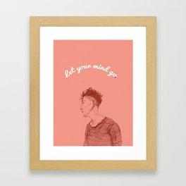 Let Your Mind Go(o) Framed Art Print