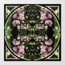 Butterflies and Flowers Mandala Canvas Print
