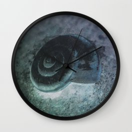 Shell - Sketch inverted colors Wall Clock