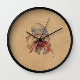 Winter Hermit Crab Wall Clock