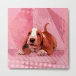 Basset Hound Puppy Metal Print