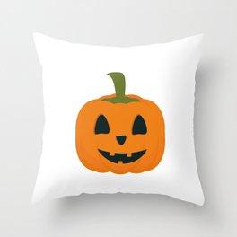 Classic Halloween pumpkin Throw Pillow