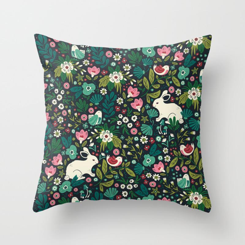 Forest Friends Throw Pillow By Annadeegan Society6