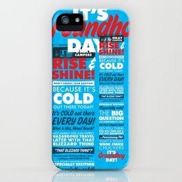 It's Groundhog Day iPhone Case