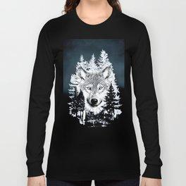 Forest Wolf Art Long Sleeve T-shirt