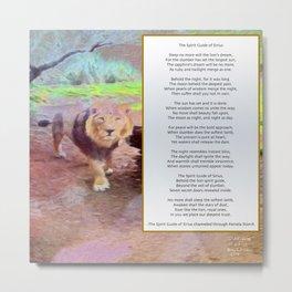 Spirit Guide of Sirius Poem Metal Print