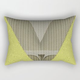 Light green and gray abstract Design Rectangular Pillow