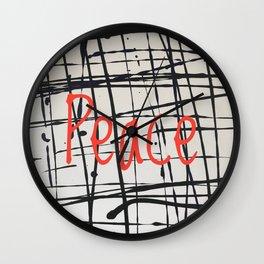 Best foot forward - Peace Wall Clock