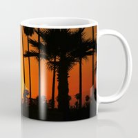 striped Mugs featuring Striped Sunset by Flattering Images