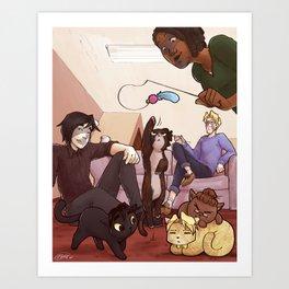 Kitten Attack! Art Print