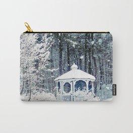 Snowy Gazebo Carry-All Pouch