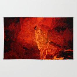 Fire Wolf Rug