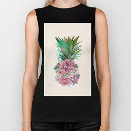 Floral Pineapple Biker Tank