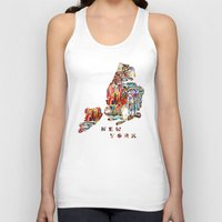new york map Tank Tops featuring new york map  by bri.buckley