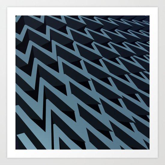Pointy Chevrons Art Print