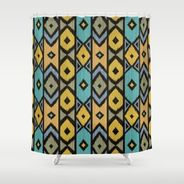Wood Boho 9 Shower Curtain