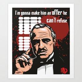 The Godfather Art Print