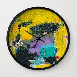 Whisper Yellow Abstract Wall Clock