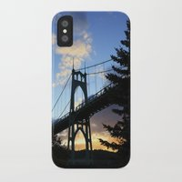 marc johns iPhone & iPod Cases featuring St Johns Bridge. by DAVID BIRKBECK