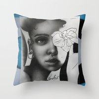 fka twigs Throw Pillows featuring FKA TWIGS by nordacious